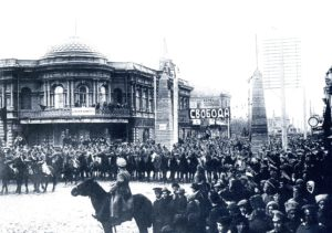 г. Красноярск. Демонстрация солдат и рабочих на Воскресенской улице, 1 мая 1917 года.