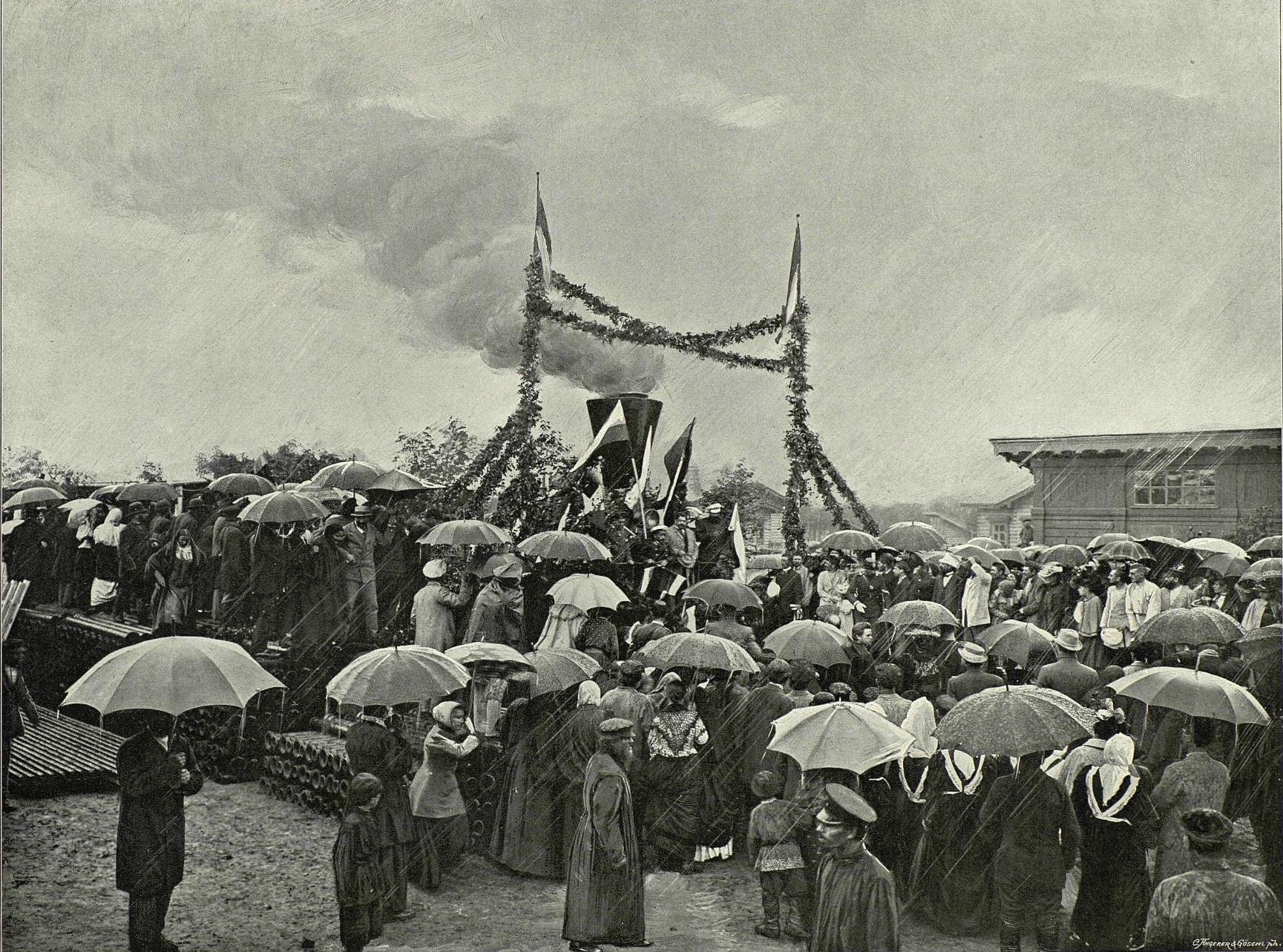 Открытие томской железнодорожной ветки, Томск 1887 год