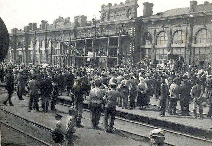 Станция Тайга. Приезд руководителя Чехословацкого корпуса генерала Гайды, май 1918 года