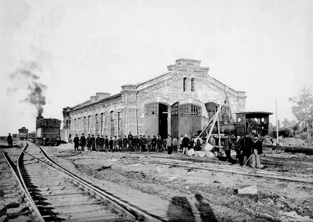 Станция Мариинск. Паровозное депо, конец 19 века
