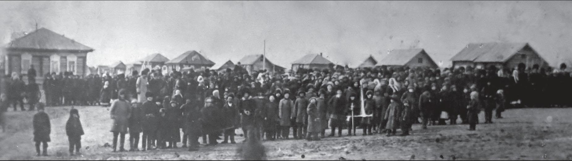 Митинг в городе Камне 17 марта 1917 года после свержения самодержавия.