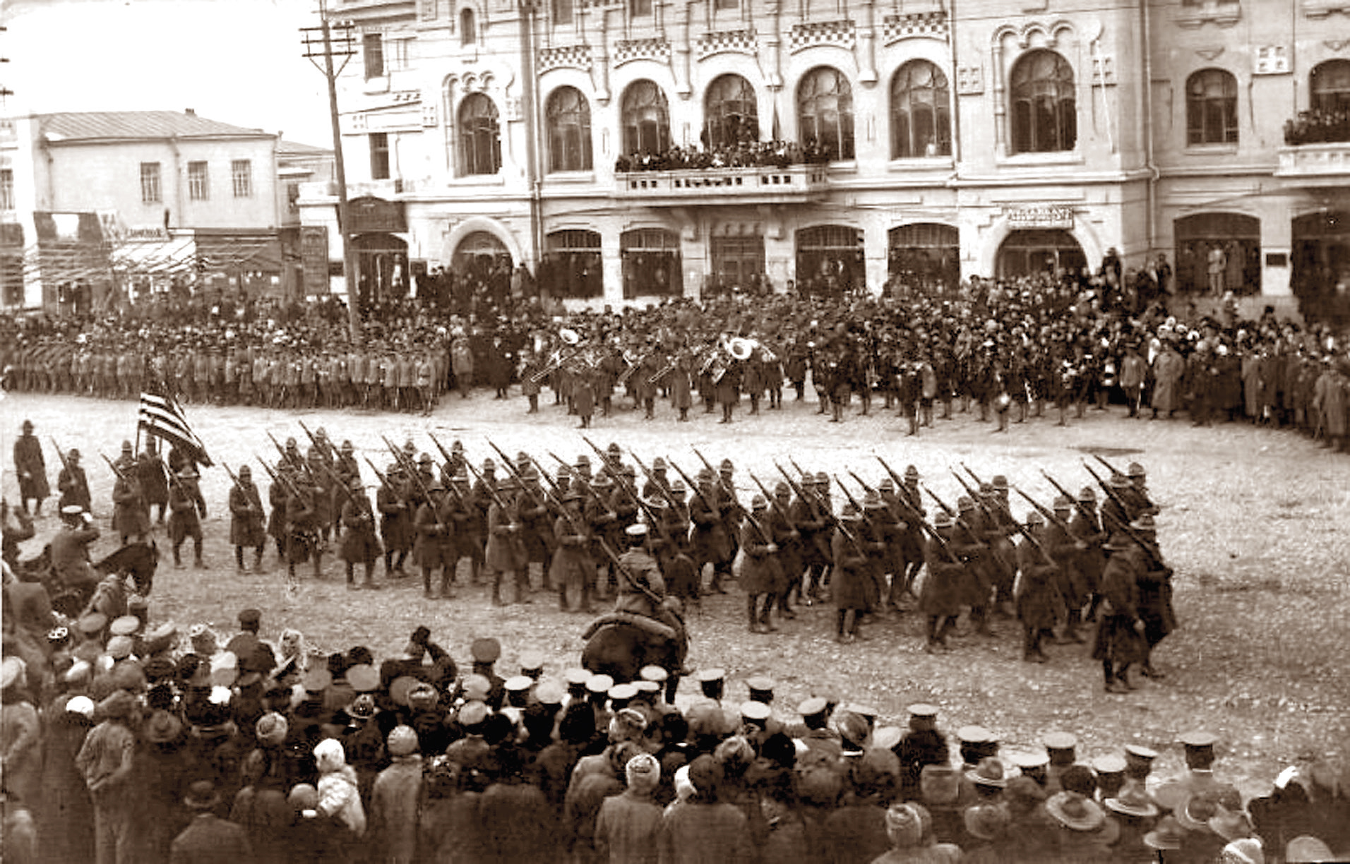 г. Хабаровск. Парад американских интервентов, 1918 год.